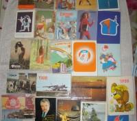 Карманные календарики Разные.СССР. 25 шт. Житомир. фото 1
