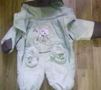 Продам очень удобный зимний комбинезон на флисе для ребенка до 6 месяцев.Подходи. Суми, Сумська область. фото 4