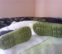 Зимние ботиночки замшевые синего цвета. Внутри мех искусственный, стелька- натур. Сумы, Сумская область. фото 7