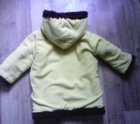 Зимняя шубка ярко-желтого цвета. Сверху- кашемировая ткань,  внутри- толстый чер. Суми, Сумська область. фото 6