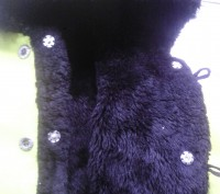 Зимняя шубка ярко-желтого цвета. Сверху- кашемировая ткань,  внутри- толстый чер. Суми, Сумська область. фото 7