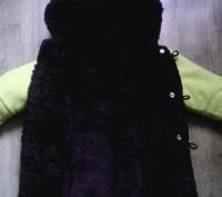 Зимняя шубка ярко-желтого цвета. Сверху- кашемировая ткань,  внутри- толстый чер. Суми, Сумська область. фото 5