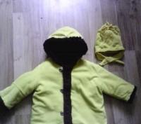 Зимняя шубка ярко-желтого цвета. Сверху- кашемировая ткань,  внутри- толстый чер. Суми, Сумська область. фото 2
