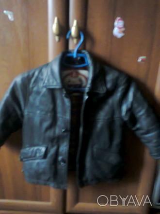 Утепленная кожаная куртка на мальчика, носили до -7.. Радомышль, Житомирская область. фото 1