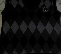 Жилет тёплый школьный, чёрного цвета. Размер 140-10. Длина изделия - 51см. Ши. Черкассы, Черкасская область. фото 3