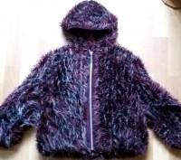 """Детская куртка с мехом """"LINA"""", made in Italy, цвета марсала (темный бордовый мех. Бердичев, Житомирская область. фото 2"""