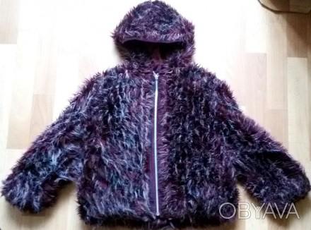 """Детская куртка с мехом """"LINA"""", made in Italy, цвета марсала (темный бордовый мех. Бердичев, Житомирская область. фото 1"""