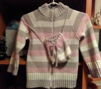 Кофточка на девочку 4 - 6 лет, теплая, удобная, мягкая, рукав с отворотом, на за. Житомир, Житомирська область. фото 2