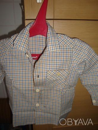 продам рубашку для мальчика,возраст 1-2 годика,новая. Киев, Киевская область. фото 1