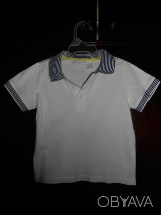 1) белая футболка на 18 мес.,FIRST IMPRESSIONS,цена-55 гр. замеры: длина-33 см. Киев, Киевская область. фото 1