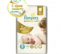 Подгузники Pampers Premium Care Dry Max Junior 5 (11-18 кг) 18 шт. Киев. фото 1
