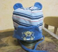 1-2.Тёплая осенняя шапочка.Плотная вязка.Подходит и для мальчиков и для девочек.. Житомир, Житомирская область. фото 4