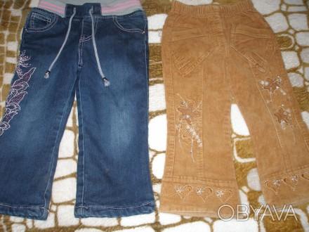 Продам штанишки для девочки 2-3 годика, джинсовые теплые на физке, цена за один . Миргород, Полтавская область. фото 1