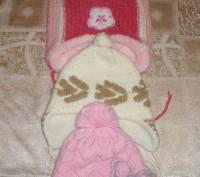 Продам зимние шапки для девочки 4-6 лет, цена за один товар.. Миргород, Полтавская область. фото 2