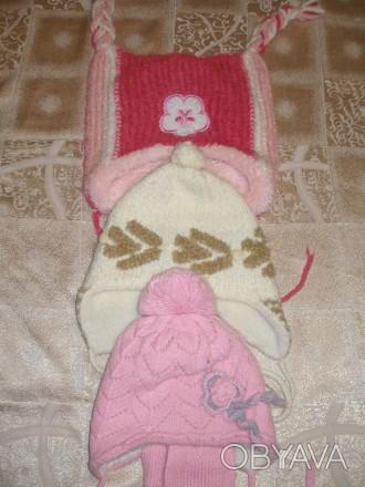 Продам зимние шапки для девочки 4-6 лет, цена за один товар.. Миргород, Полтавская область. фото 1