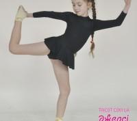 Гимнастическое трико для девочки украшено оригинальным декоративным элементом – . Бердянск, Запорожская область. фото 3