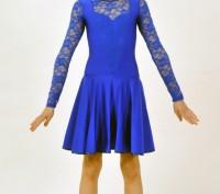 Танцевальное платье с кружевным верхом выглядит стильно и оригинально. Верхняя ч. Бердянск, Запорожская область. фото 2