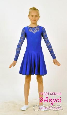 Танцевальное платье с кружевным верхом выглядит стильно и оригинально. Верхняя ч. Бердянск, Запорожская область. фото 1