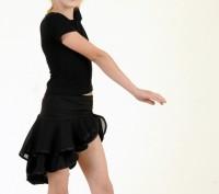 Танцевальная юбка с асимметричным краем понравится любой девочке. Предназначена . Бердянск, Запорожская область. фото 2