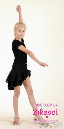 Танцевальная юбка с асимметричным краем понравится любой девочке. Предназначена . Бердянск, Запорожская область. фото 1