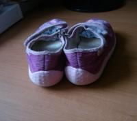 Туфли для девочки ,размер 27, длина стельки 17,5 см, текстиль- вельвет, застежка. Полтава, Полтавская область. фото 4