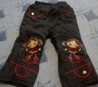 Продам зимние штаны для девочки.На возраст 1-2 года.Верх плащевка,внутри флис,в . Никополь, Днепропетровская область. фото 2