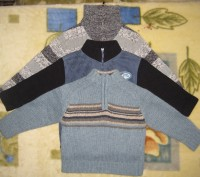1)свитер на мальчика 3-х-4-х лет в отличном состоянии.воротник на молнии.б/у мал. Кременчуг, Полтавская область. фото 2
