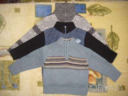 1)свитер на мальчика 3-х-4-х лет в отличном состоянии.воротник на молнии.б/у мал. Кременчуг, Полтавская область. фото 1