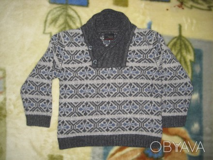 свитер на 2-3 года с воротником на пуговицах.очень тёплый.в отличном состоянии-4. Кременчуг, Полтавская область. фото 1