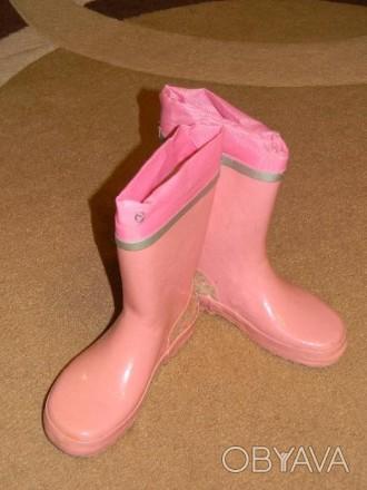 Резиновые сапоги для девочки. По стельке 22см.. Винница, Винницкая область. фото 1
