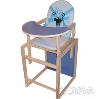 Стульчик для кормления ремни безопасности трансформируется в отдельный стульч. Винница, Винницкая область. фото 1