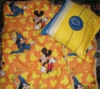 Одеяло с подушкой детское Микки Маус 110х140. Павлоград. фото 1