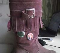 Замшевые сапожки на модницу. Винница. фото 1