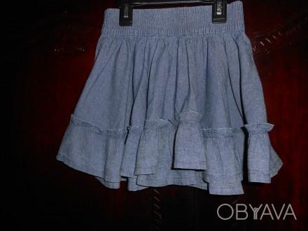 Джинсовая юбка на 4 года,пышная,пояс резинка,в отличном состоянии замеры: длина. Киев, Киевская область. фото 1