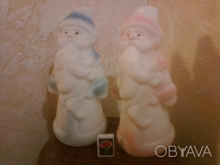 Цвета - голубой и розовый. Высота 31 см. Пластмасса. Made in USSR.. Одесса, Одесская область. фото 1