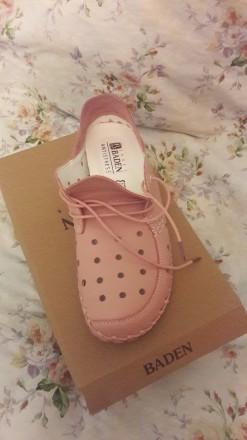 Туфли женские летние спортивные розовые на шнурках. Лёгкие. Кожаные. 41 размер.. Херсон, Херсонская область. фото 4
