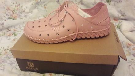 Туфли женские летние спортивные розовые на шнурках. Лёгкие. Кожаные. 41 размер.. Херсон, Херсонская область. фото 3