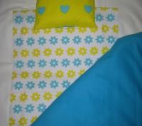 ОТЛИЧНЫЙ ПОДАРОК !!! Комплект постели для кукольной кроватки и колясочки. Матер. Винница, Винницкая область. фото 7