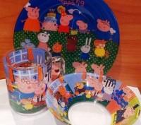 Набор детской посуды-цена 160 грн .В наличии. В наборе 3 предмета: Чашка объемо. Киев, Киевская область. фото 3
