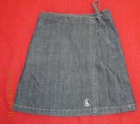 Красивая джинсовая юбочка на запах L.O.G.G. - Label Of Graded Goods.   Слегка . Киев, Киевская область. фото 2