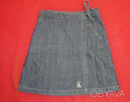 Красивая джинсовая юбочка на запах L.O.G.G. - Label Of Graded Goods.   Слегка . Киев, Киевская область. фото 1