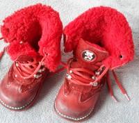 Ортопедические зимние кожаные ботинки на овчине