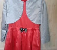 Элегантное праздничное платье в комплекте с болеро на 9-11 лет.. Светловодск. фото 1