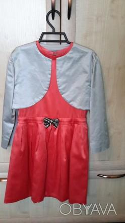 Элегантное праздничное платье в комплекте с болеро на девочку 9-11 лет.Ручная ра. Светловодск, Кировоградская область. фото 1