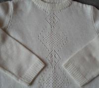 Пуловер с ажурной вставкой для школьников на 6-8лет,акрил. Светловодск. фото 1