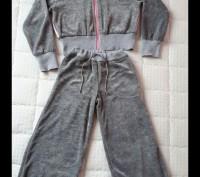 Стильный спортивный велюровый костюм для девочки 8-10лет. Светловодск. фото 1