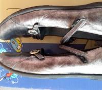 """Кожаные туфли ,балетки""""Bartek"""",Польша,37 размер.Цвет серебристый.Все нюансы на ф. Светловодск, Кировоградская область. фото 4"""