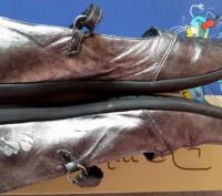 """Кожаные туфли ,балетки""""Bartek"""",Польша,37 размер.Цвет серебристый.Все нюансы на ф. Светловодск, Кировоградская область. фото 5"""