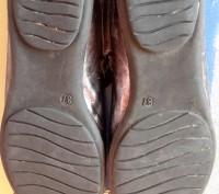 """Кожаные туфли ,балетки""""Bartek"""",Польша,37 размер.Цвет серебристый.Все нюансы на ф. Светловодск, Кировоградская область. фото 10"""