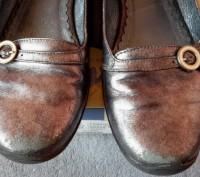 """Кожаные туфли ,балетки""""Bartek"""",Польша,37 размер.Цвет серебристый.Все нюансы на ф. Светловодск, Кировоградская область. фото 6"""